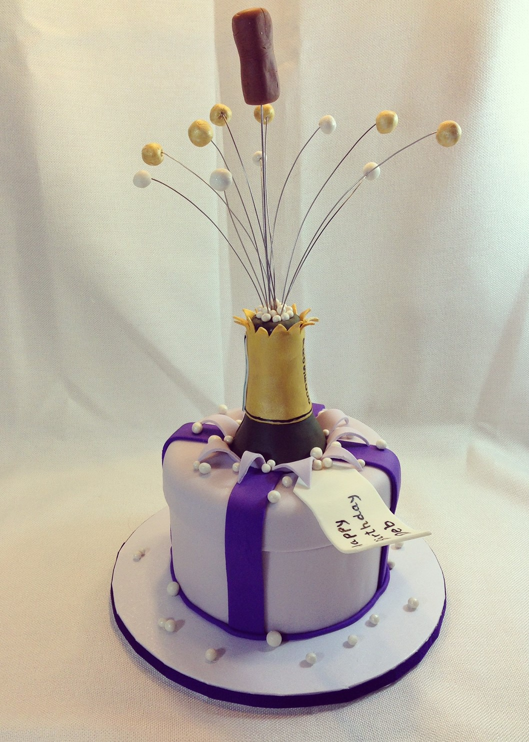 Prosecco Birthday Cake