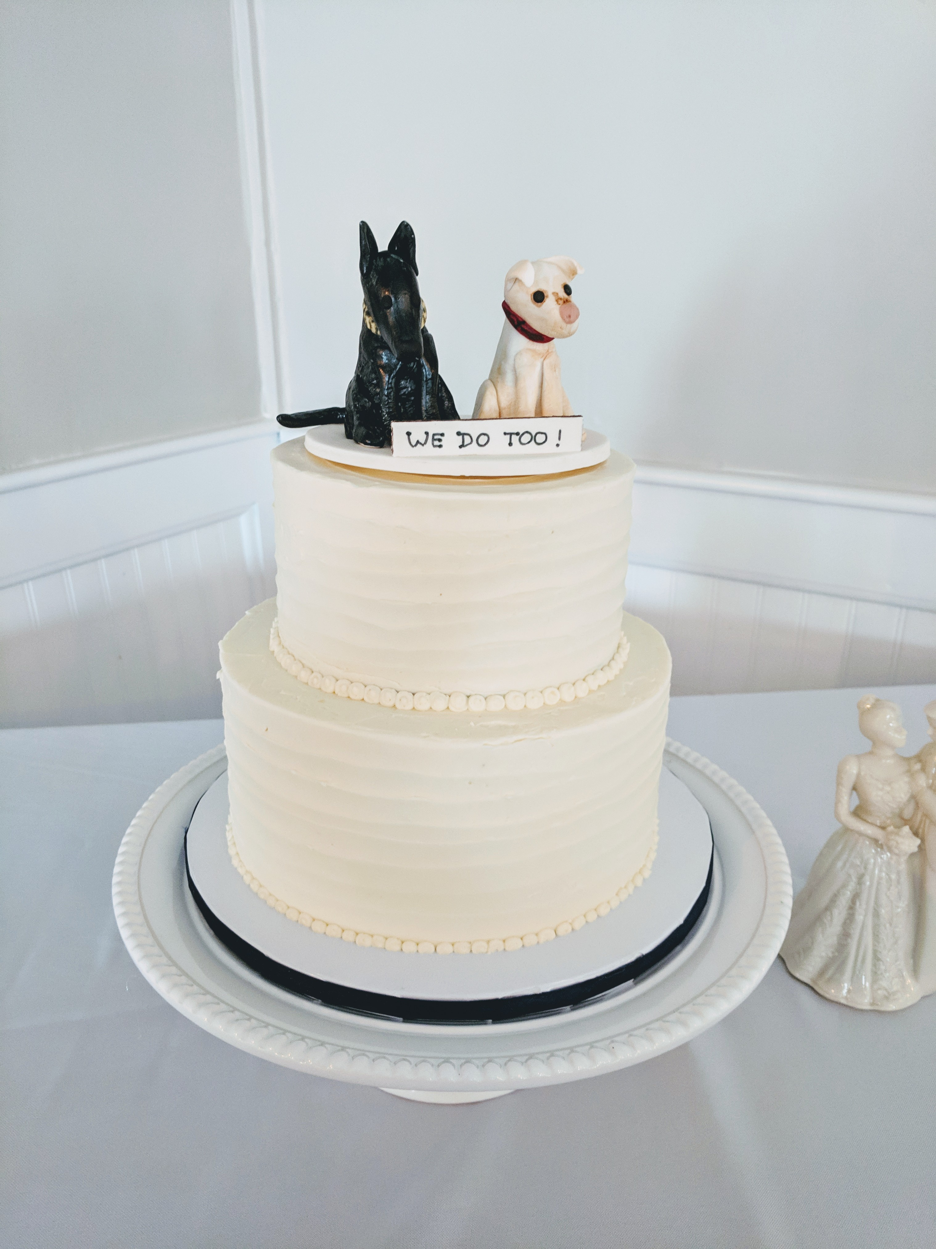 Dog Topper Wedding Cake